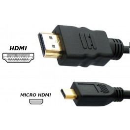 2M KABEL MICRO HDMI - HDMI GOLD 4K HIGH SPEED 1,4B